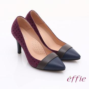 【開箱心得分享】gohappy快樂購物網【effie】輕透美型 羊皮拼接絨面點點高跟鞋(紫)哪裡買高雄 大 遠 百 wifi