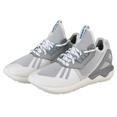 adidas 管狀亞軍編織運動鞋(男/白+灰+藍+螢光綠)