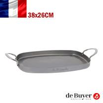 法國【de Buyer】畢耶鍋具『原礦蜂蠟系列』法式海鮮&韓式烤煎盤(橢圓型) 38x26cm