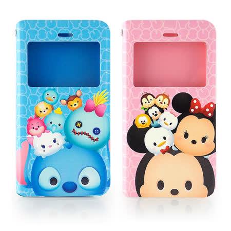 Disney iPhone 6/6s TSUM TSUM 透視視窗彩繪可立式皮套