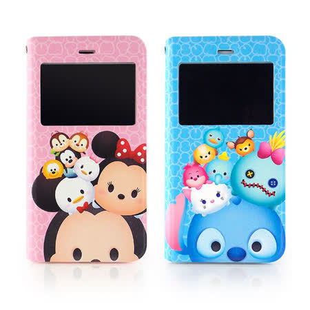 Disney iPhone 6 Plus/6s Plus TSUM TSUM 透視視窗彩繪可立式皮套