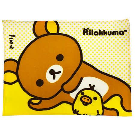 【享夢城堡】Rilakkuma拉拉熊 發呆中 小刷毛毯