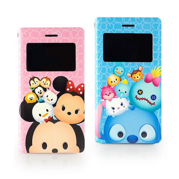 Disney Sony Xperia Z3 TSUM TSUM 透視視窗彩繪可立式皮套
