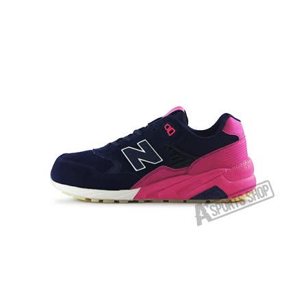 (男女)NEW BALANCE 復古鞋 深藍/粉桃紅-MRT580UP