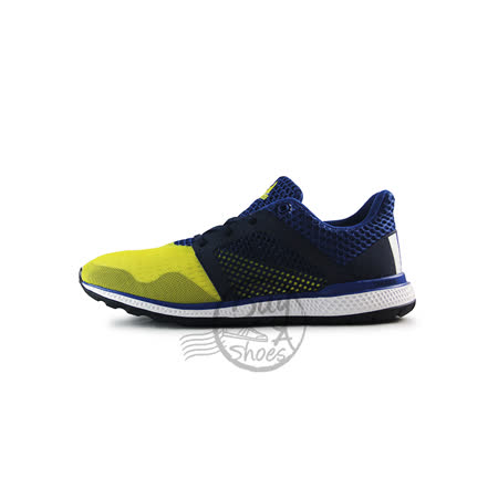 (男)ADIDAS ENERGY BOUNCE 2 M 慢跑鞋 藍/黃-AQ3157