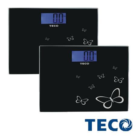 東元TECO-藍光時尚體重計XYFWT486(2入)