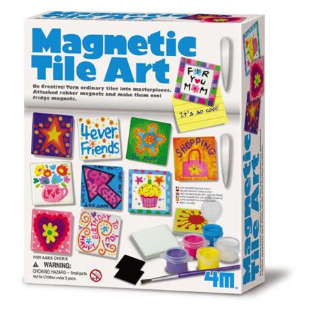 (購物車)《4M美勞創作》Magnetic Tile Art 創意塗鴉磚