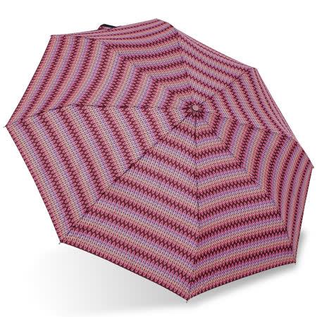 【rainstory】幾何織紋(桃紅)抗UV隨身自動傘