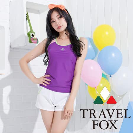 【夏之戀TRAVEL FOX】亮麗紫長版三件式泳衣(C15710)