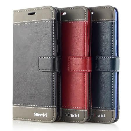 Miravivi HTC One E9+ dual sim 時尚撞色可立式筆記本皮套