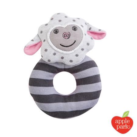 美國 Apple Park - 農場好朋友系列 有機棉啃咬手搖鈴 - 小羊夢夢