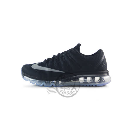 (女)NIKE WMNS NIKE AIR MAX 2016 慢跑鞋 黑-806772001