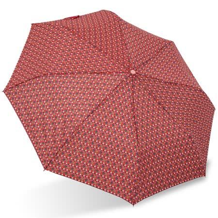 【rainstory】田園小花(橘紅)抗UV隨身自動傘
