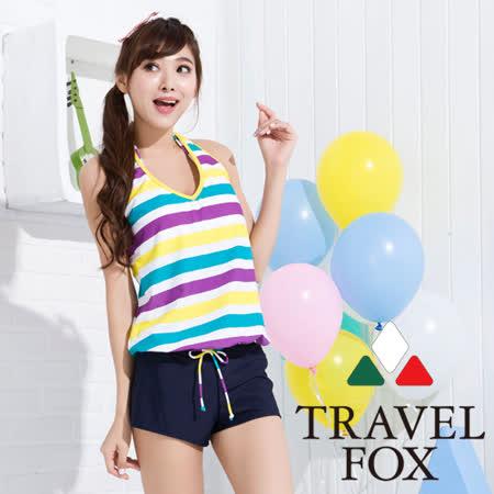 【夏之戀TRAVEL FOX】亮彩連身褲三件式泳衣(C15721)