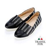 女Travel Fox 菱格晚宴舒適鞋915848(黑-901)