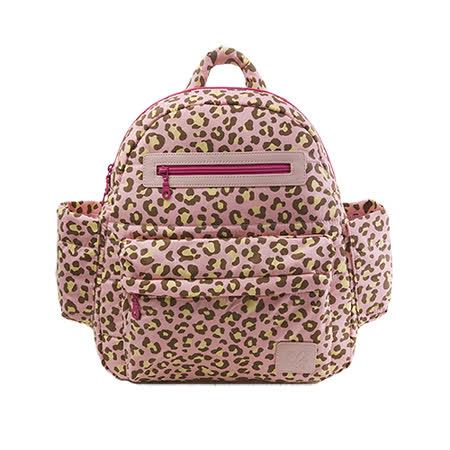 【HanaBene】經典極輕量-空氣包/媽媽包中型後背包-(粉豹紋)