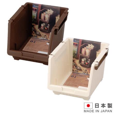 日本製造 TSUMU多功能收納置物架雜物收納盒 IN-3904 (咖啡/白 二色可選)