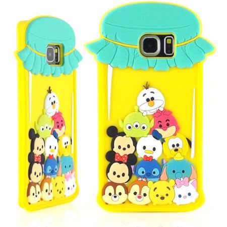 Disney Samsung Galaxy S6 Edge TSUM TSUM 可愛2D立體保護套-糖果罐