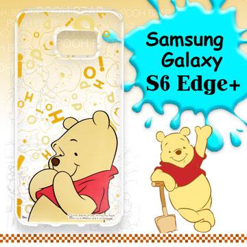 迪士尼  Samsung Galaxy S6 Edge 大頭背景系列透明軟式手機殼^(摀嘴