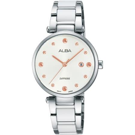 ALBA Fashion Lady 陶瓷天使女錶-銀/29mm VJ22-X217S(AH7J29X1)
