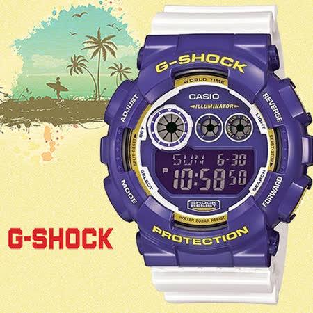 G-SHOCK 強悍跳色系列運動男錶-51mm/防水/GD-120CS-6DR