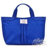 La Poche Secrete 漾彩手提帆布袋-皇家藍