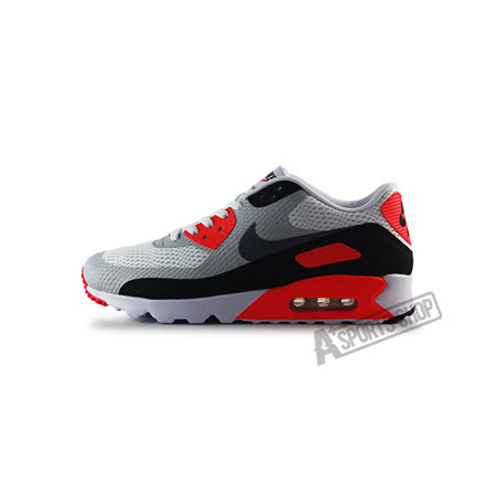 (男)NIKE AIR MAX 90 ULTRA ESSENTIAL 休閒鞋 白/灰/亮橘紅-819474106