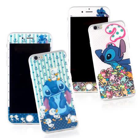 Disney iPhone 6 Plus/6s Plus 強化玻璃彩繪保護貼-史迪奇