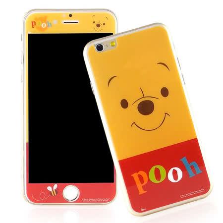 Disney iPhone 6 Plus/6s Plus 強化玻璃彩繪保護貼-維尼