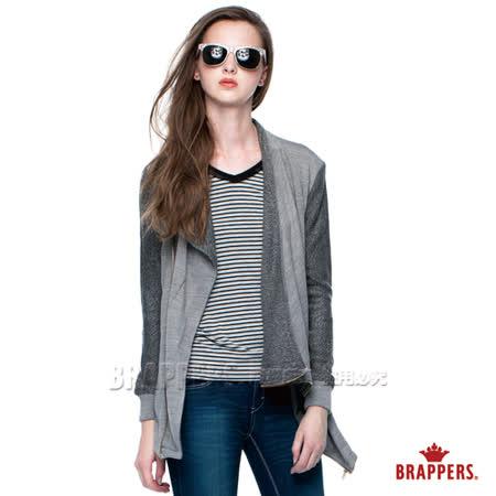 (女)BRAPPERS 女款 女用針織騎士外套-淺灰