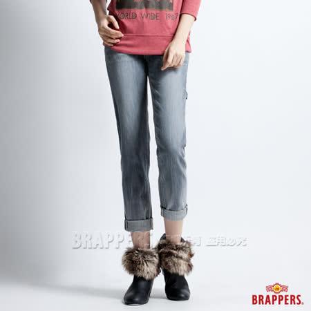 (女)BRAPPERS 女款 BoyFirendWork系列-女用九分反摺工作褲-淺黑灰