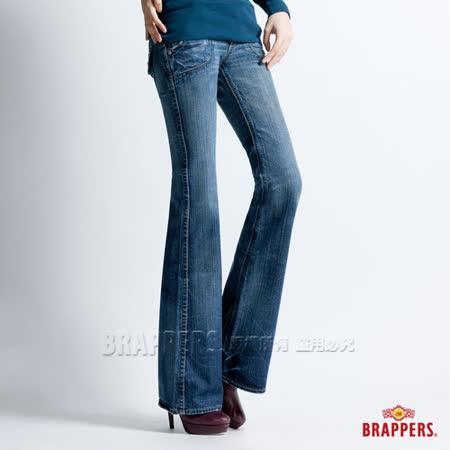 (女)BRAPPERS 女款 女個性系列-女用大喇叭褲-淺藍