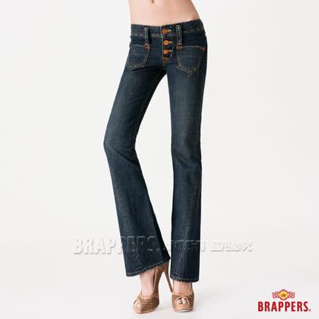 (女)BRAPPERS 女款 女垮褲系列-女用3D垮褲-藍