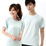 【遊遍天下】 台灣製中性款涼感吸排圓領衫(灰白 S-3L)(品特)