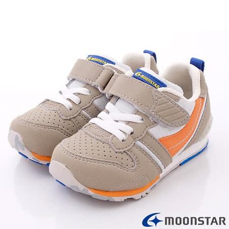 日本Carrot機能童鞋-創新配色穩定款C2121N1灰-(15cm-20cm)