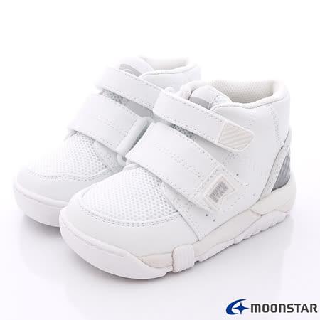 日本Carrot機能童鞋-新一代雙鞋墊純白護踝款C21401白-(15cm-21cm)