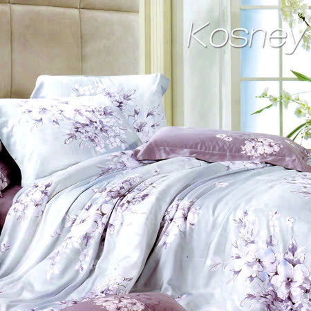 《KOSNEY 愛如潮水》特大100%天絲全舖棉四件式兩用被冬包組