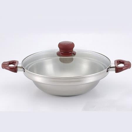 金德恩 不鏽鋼湯鍋32CM加碼贈菜刀砧板收納架 (台灣MIT)