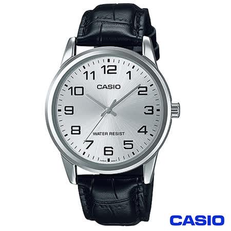 CASIO卡西歐 休閒時尚簡潔大方數字指針腕錶 MTP-V001L-7B