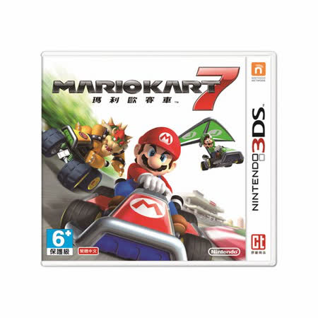 Nintendo 3DS遊戲軟體 繁體中文主機專用-瑪利歐賽車7