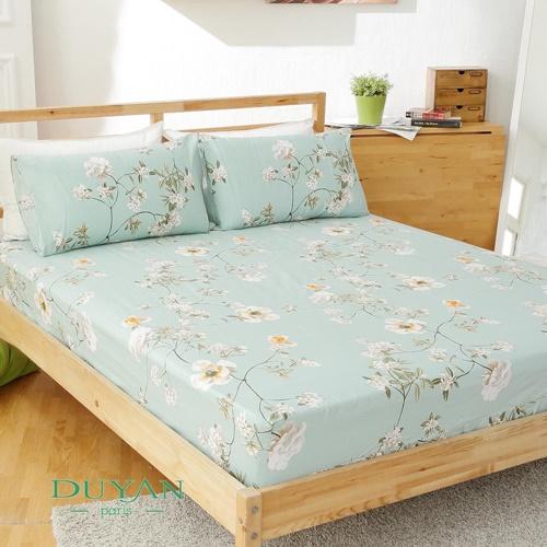 DUYAN~浪韻花漾~天然 純棉雙人三件式床包組