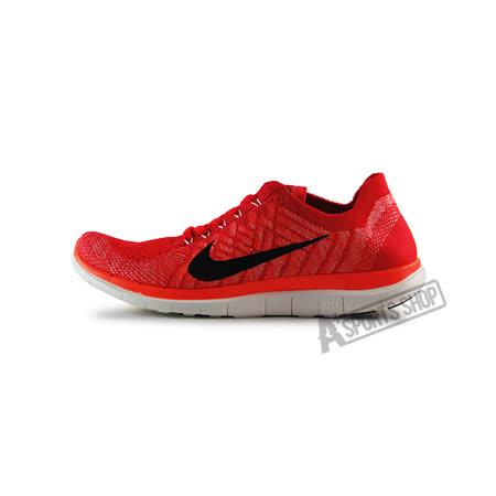(女)NIKE WMNS NIKE FREE 4.0 FLYKNIT 慢跑鞋 亮紅/黑-717076602