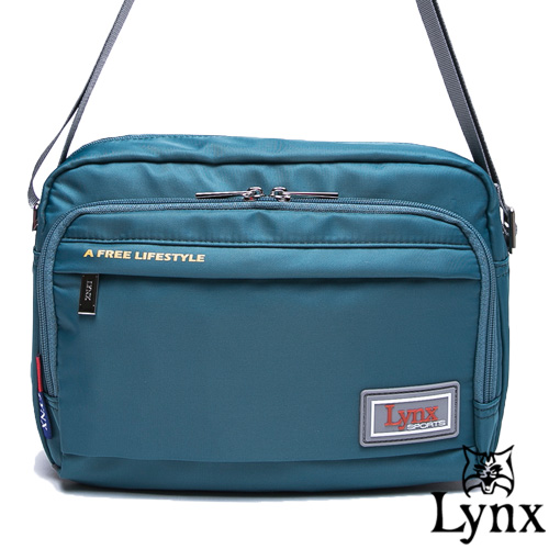 Lynx ~ 山貓城市悠遊款輕便機能橫式側背包~湖水藍
