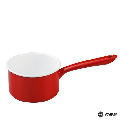 月兔印-琺瑯單手牛奶鍋(紅.14cm)
