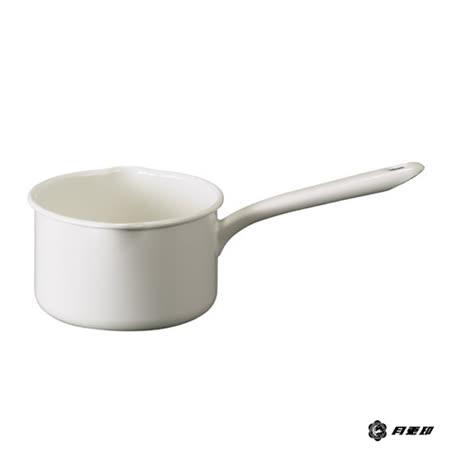 月兔印-琺瑯單手牛奶鍋(白.14cm)