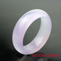 石頭記 冰種星光紫羅蘭玉髓手鐲-寬版