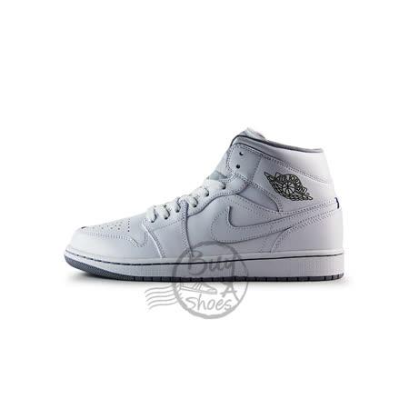 (男)NIKE AIR JORDAN 1 MID 籃球鞋 白-554724112