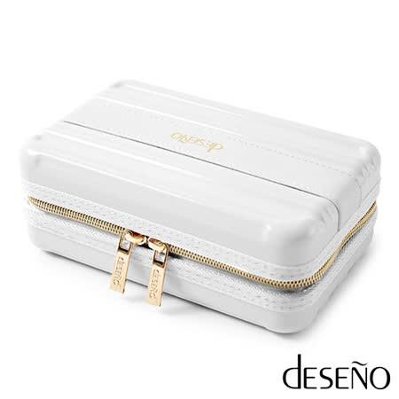 Deseno 時尚硬殼航空化妝包-白色