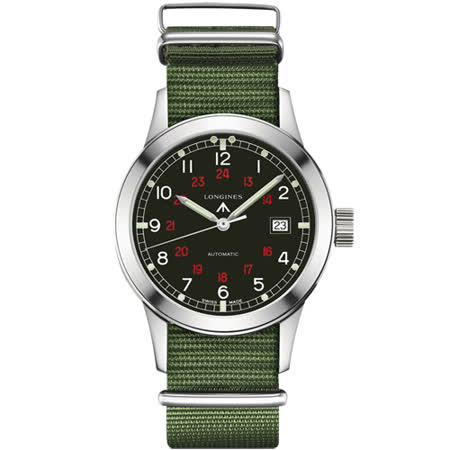 Longines Heritage Military COSD復刻軍事機械錶-黑/40mm L28324535