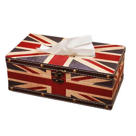 PUSH! 居家生活用品 英倫風 紙巾盒 面紙盒 衛生紙抽取收納盒I05